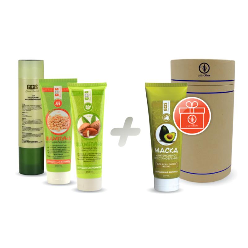 Шампуни и кондиционер Green Standard + маска для волос «Интенсивное восстановление»