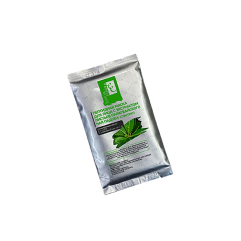 Пептидная маска-субстрат для лица с экстрактом листьев парагвайского чая падуба